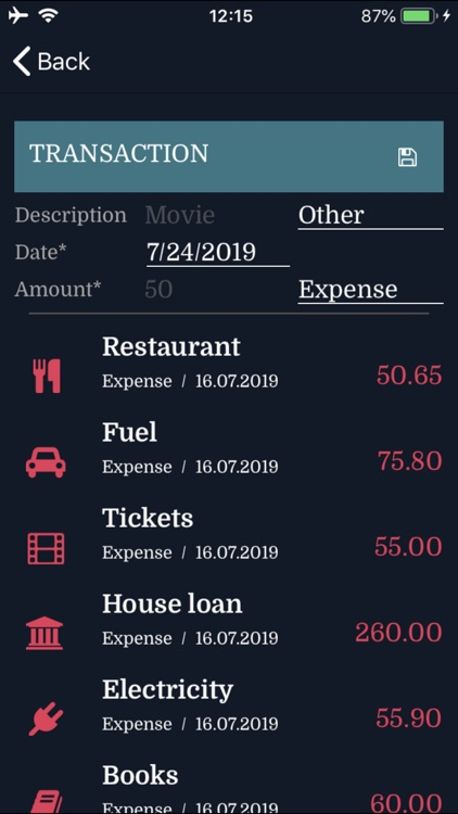 Credit Card Expenses Manager screenshot-4