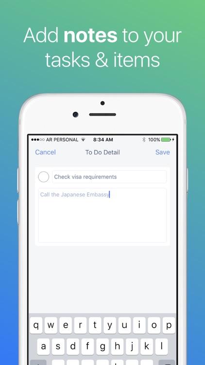 Packing List Checklist screenshot-4