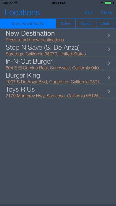 Back Seat Navigator Screenshot