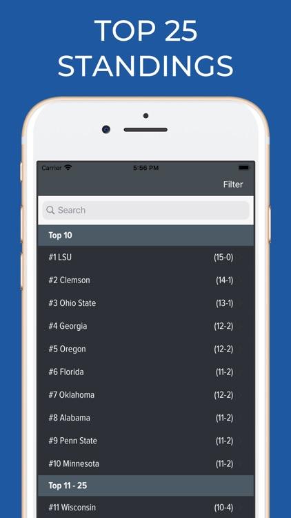 Florida Football Schedules screenshot-5