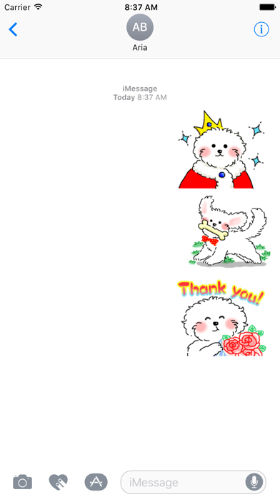 Cute Maltese Puppy Sticker screenshot 1