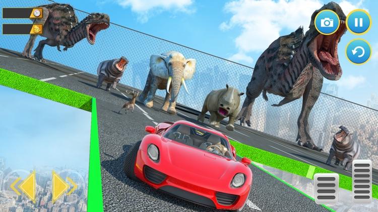 Dinosaur Car Chase screenshot-3
