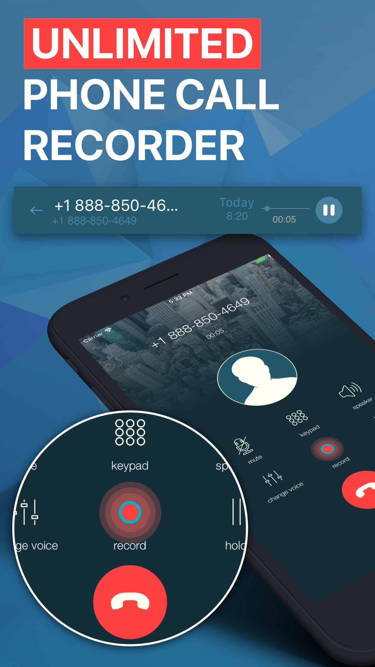 Callbacker: Calling App & SMS Screenshot