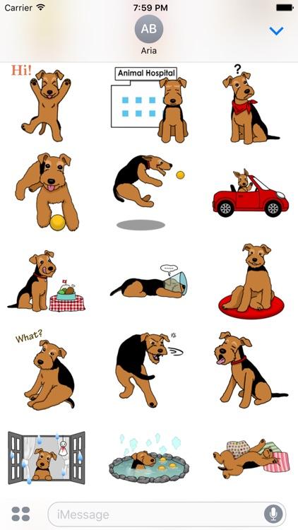 Cute Welsh Terrier Dog Sticker