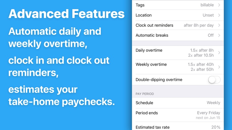 Hours Tracker: Hours and Pay screenshot-4