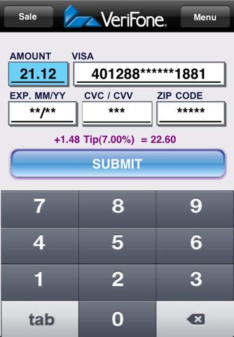 Screenshot of PAYware Mobile