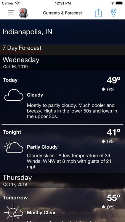 WTHR Live Doppler 13 Weather screenshot-3