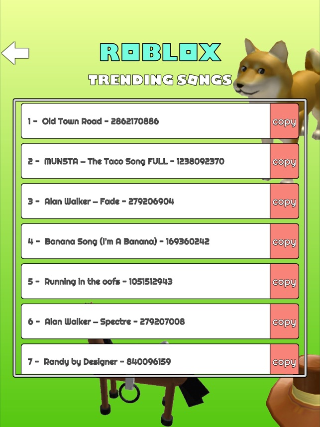 Id Songs For Roblox List Music Codes For Roblox Robux On The App Store