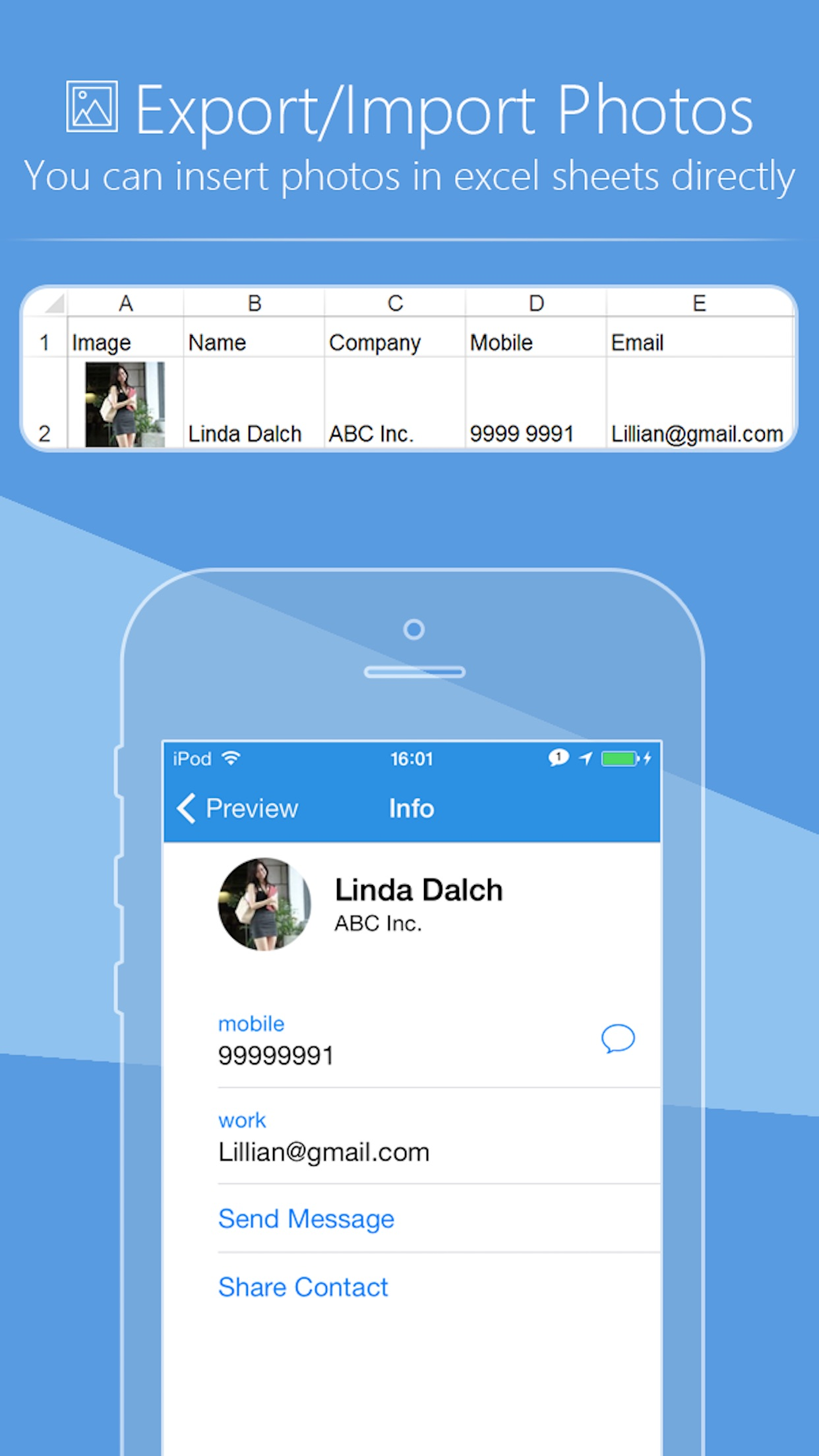 SA Contacts Lite Screenshot