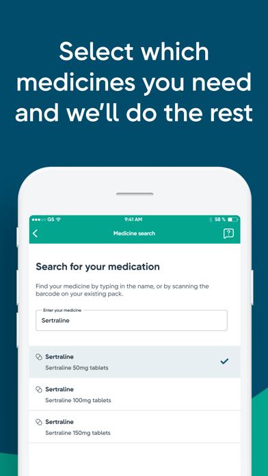 Well Repeat NHS Prescriptions screenshot three