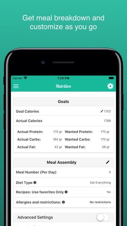 Fitness Meal Planner Essence screenshot-4