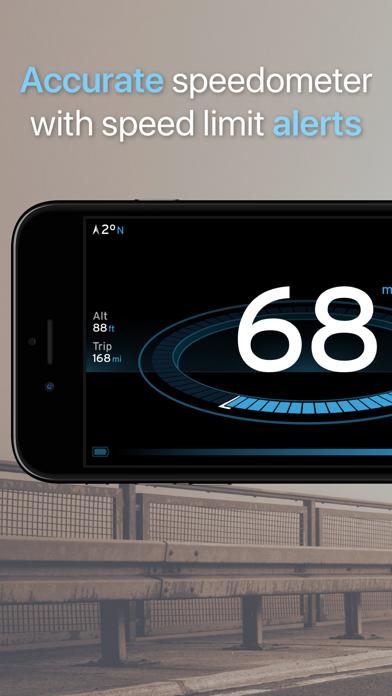 MPH & KPH Speedometer Classic screenshot one
