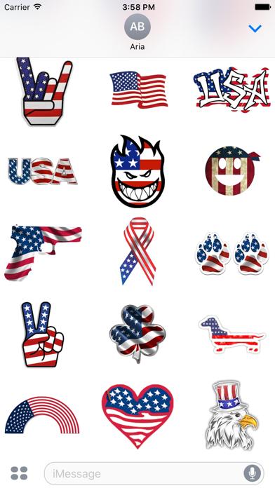 I Love The American Flag Icon screenshot 4