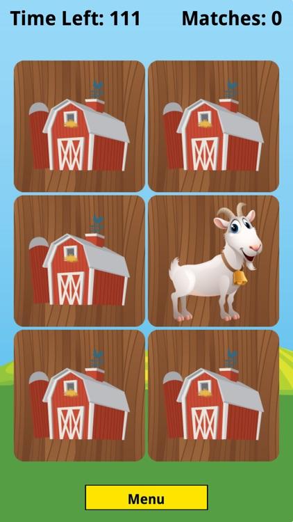 Farm Animal Picture Match