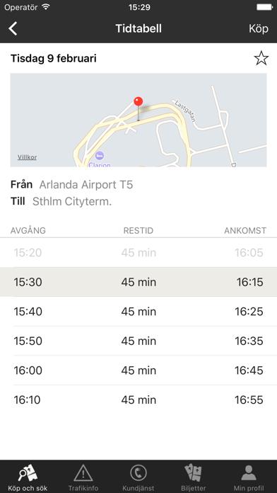 Screenshot for Flygbussarna in Sweden App Store
