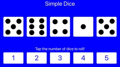 Simple Dice: Roll 1-5 Dice! screenshot four