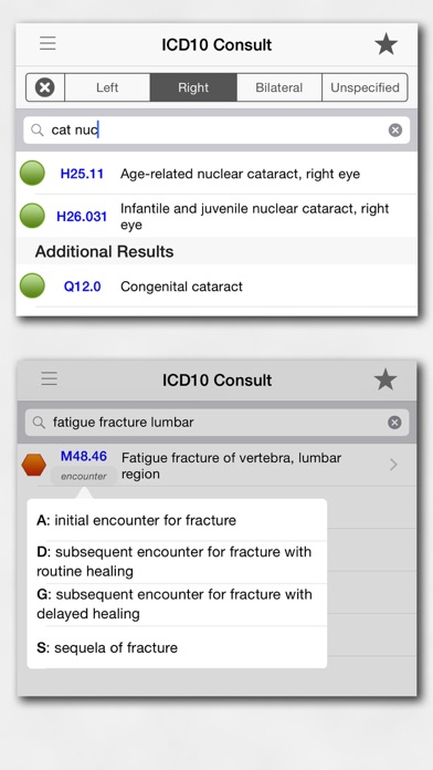 ICD10 Consult Screenshot