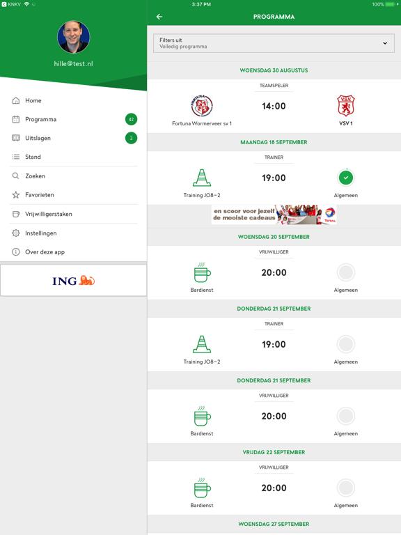 Voetbal.nl iPad app afbeelding 2