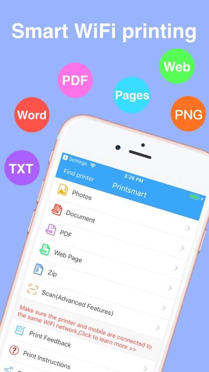 Printsmart-WiFi printer app screenshot-0