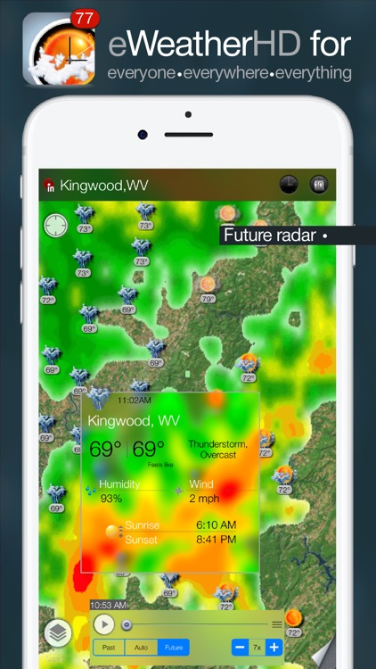 eWeather HD - Weather & Alerts screenshot-0
