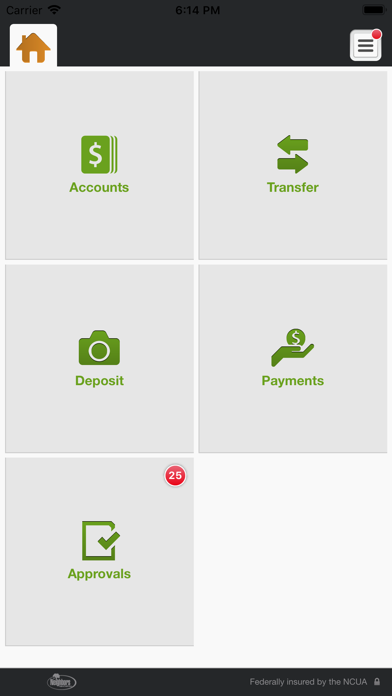 Neighbors FCU Business Banking Screenshot on iOS