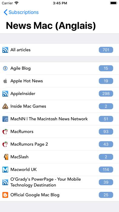 Screenshot #1 pour tiny Reader RSS