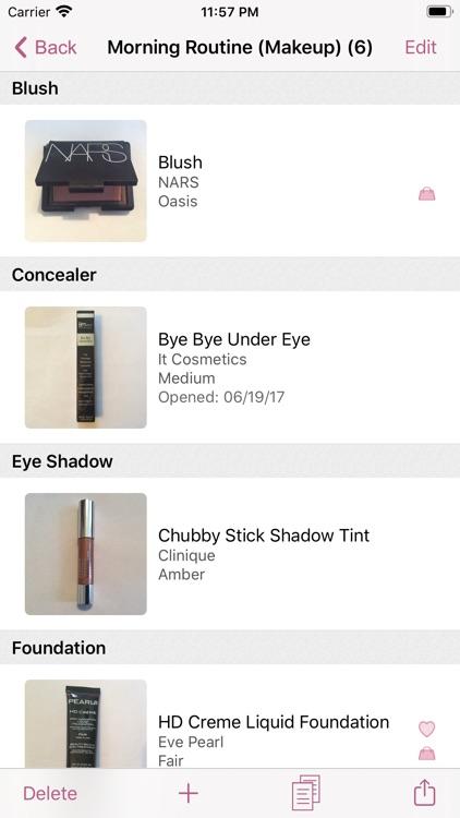 myBeautyCache Makeup Organizer screenshot-4