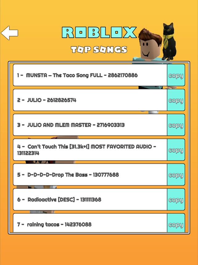 Codigos Para Poner Musica En Roblox Free Roblox Accounts Music Codes For Roblox Robux On The App Store