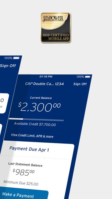 Citi Mobile review screenshots