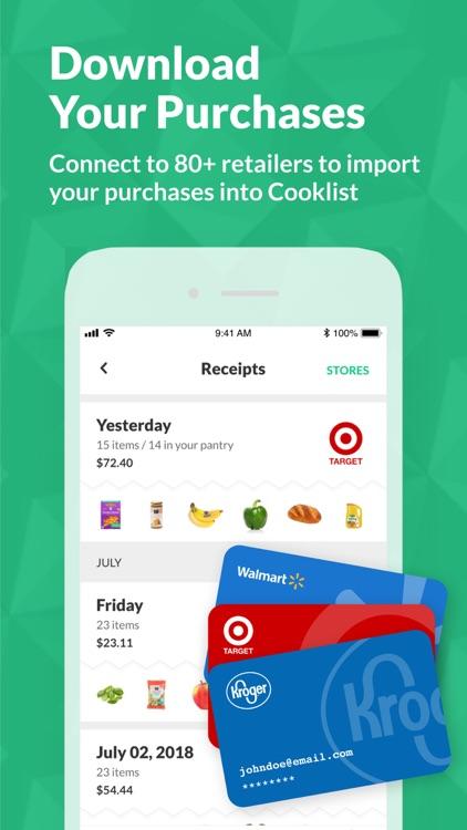 Cooklist: Grocery List Planner screenshot-4