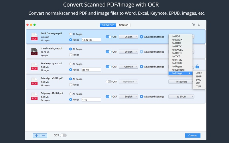 PDF Converter OCR Screenshots