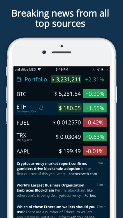 HODL Real-Time Cryptocurrency screenshot-3