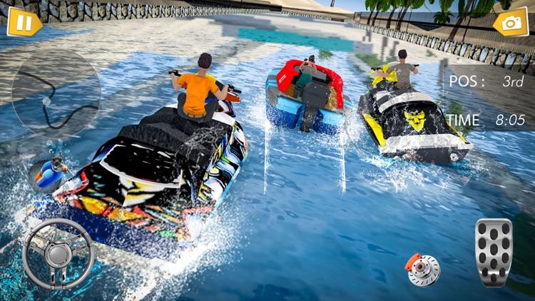 Fun Speed Boat 3D Race Battle screenshot-3