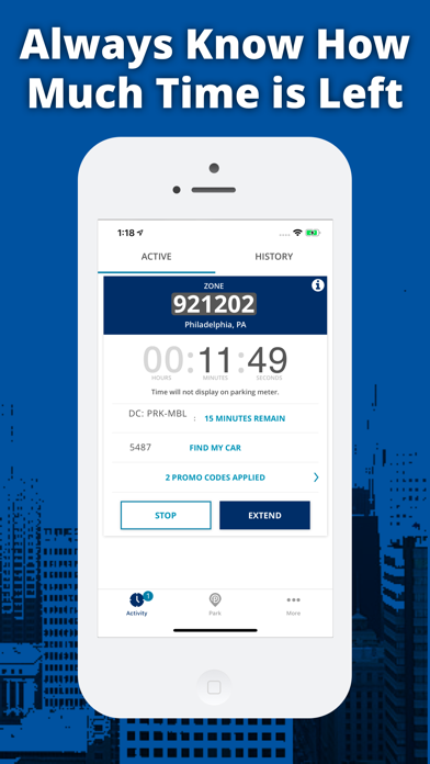 messages.download meterUP Parking software