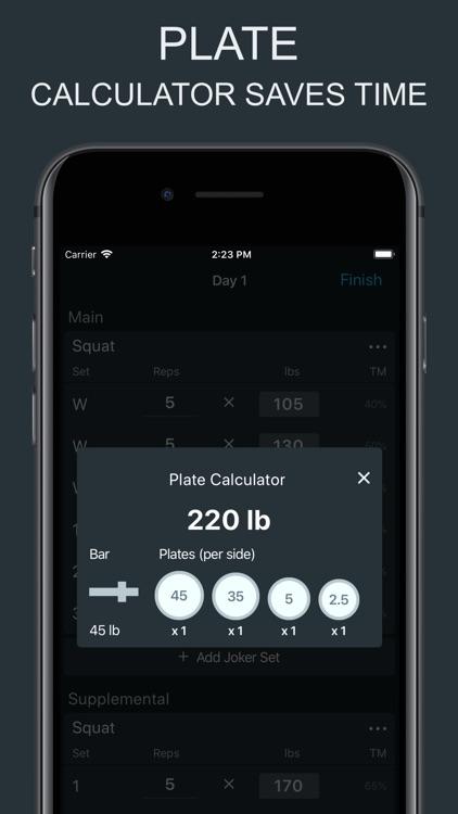 Ultimate 5/3/1 - Workout Log screenshot-5