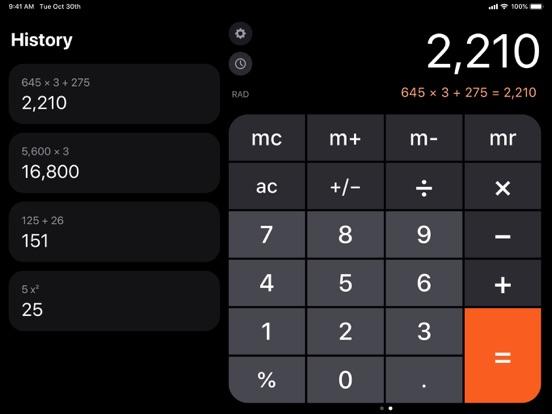 iPad Image of Calculator ۬