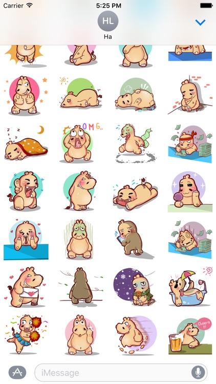 Super Hippo Stickers