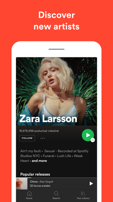 Spotify New Music and podcasts Screenshots