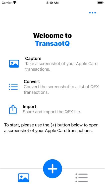 TransactQ: Apple Card to QFX