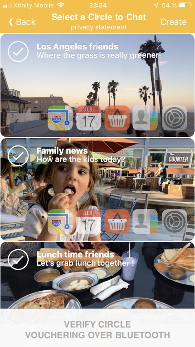 Screenshot of Circles -Crittografia E2E VOIP4