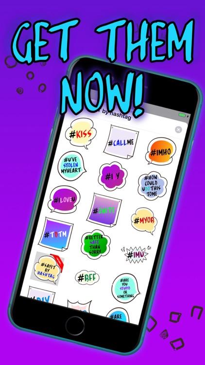 SayIT - funny hashtag stickers screenshot-3