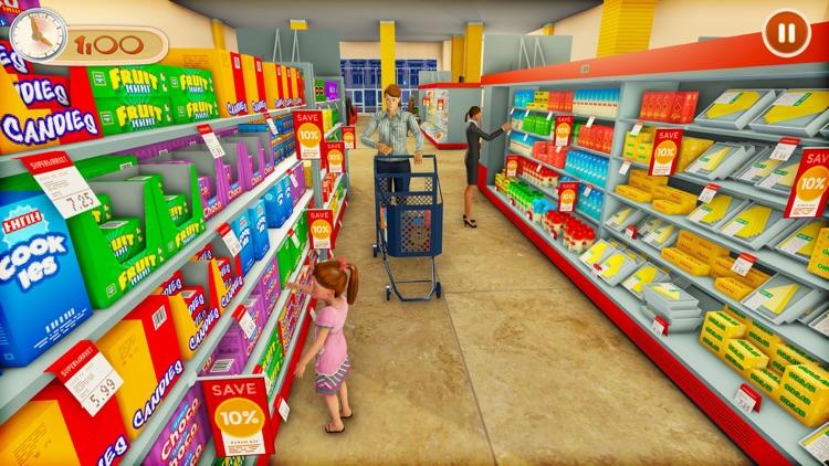 Supermarket Shopping Games 3D screenshot-3