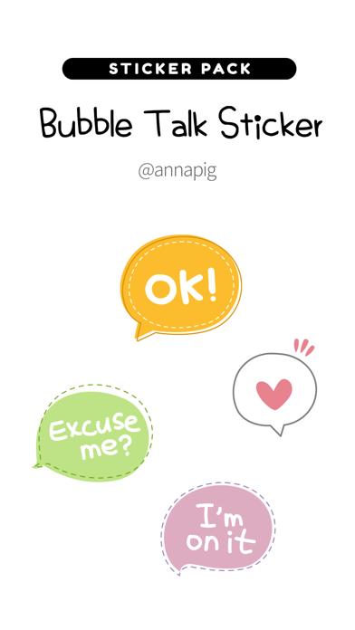 Bubble Talk Sticker screenshot 1