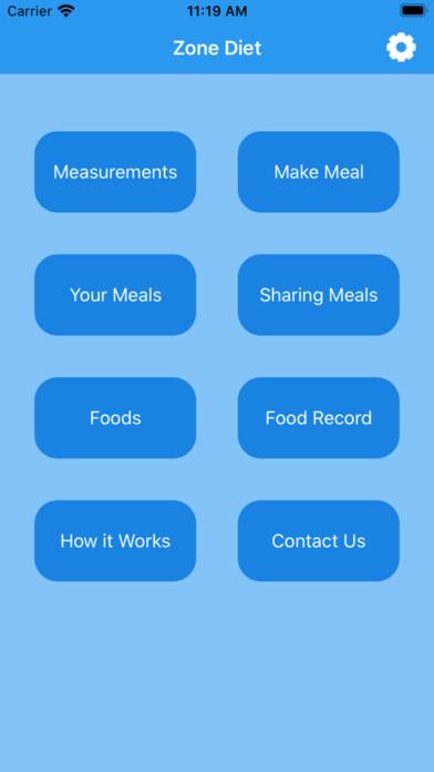 Zone Diet Screenshots