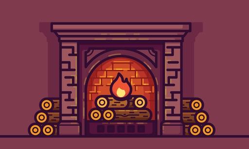 Interactive 3D Fireplace