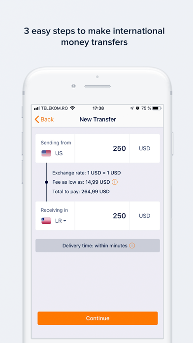 NobelApp Money Transfers+Calls Screenshot