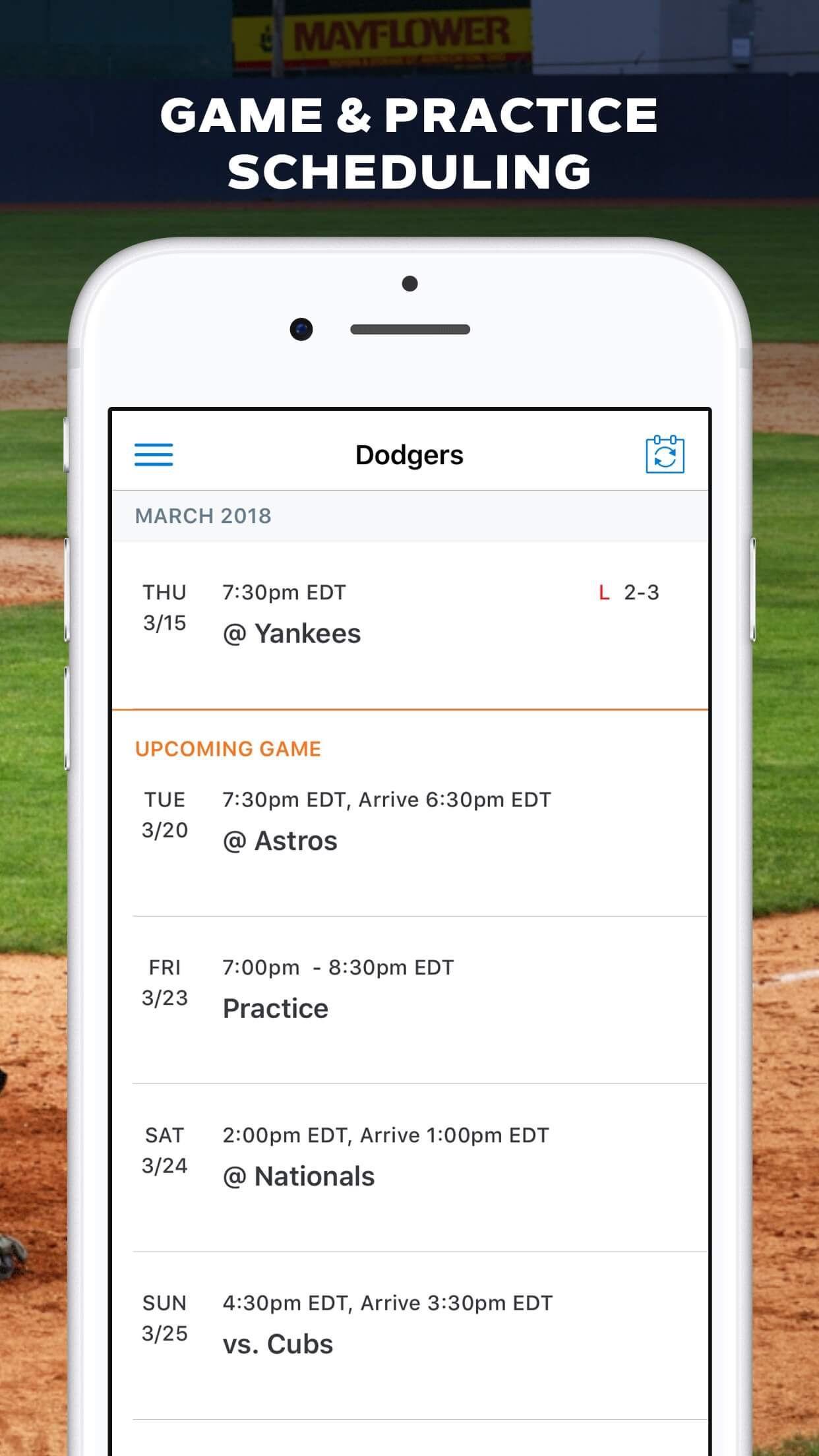 GameChanger Baseball Softball Screenshot