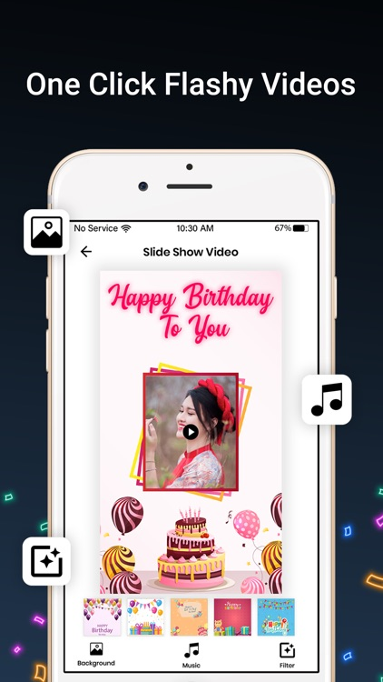Bday Video Maker, Wishes,Cards screenshot-7