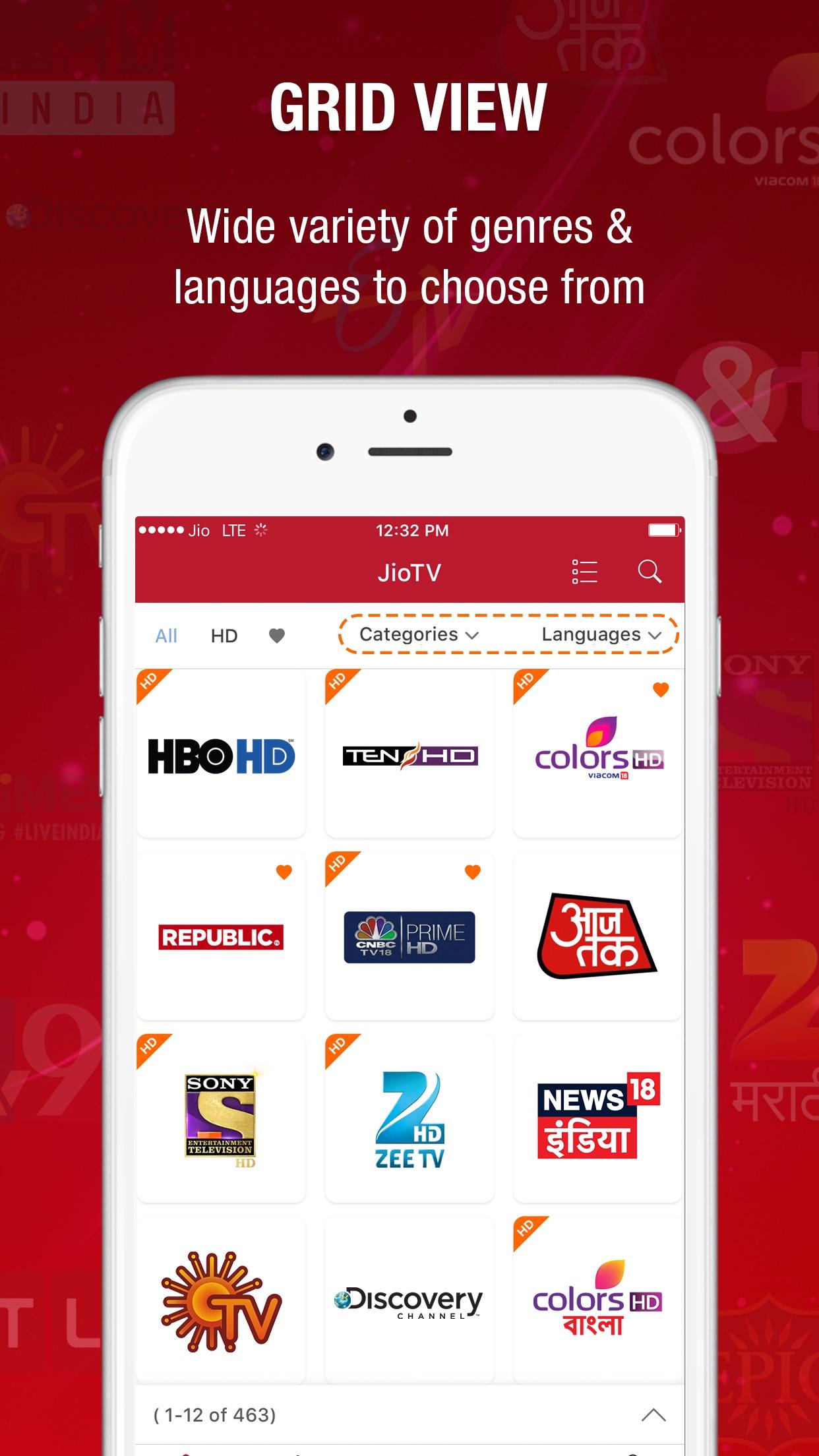 JioTV-Live TV & Catch-Up Screenshot
