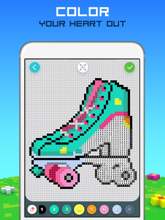 RAINBOW Color by Number screenshot